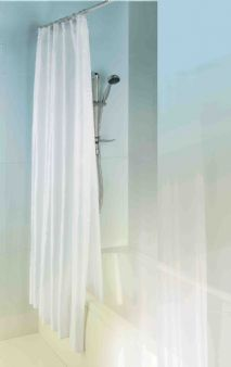 MX Shower Curtain Double Layer 1800mm x 1800mm Polyester and Peva White RGF